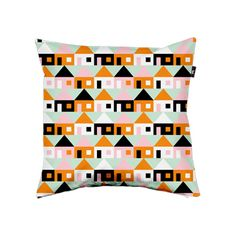 """Pillow cover """"Stugorna""""  by Rebecca Elfast from Gothenburg (SE)"""