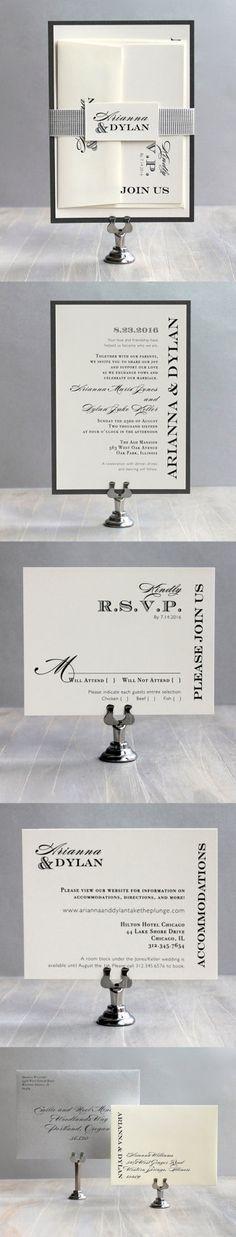 Customizable Modern Wedding Invitations, Beacon Lane www.beaconln.com