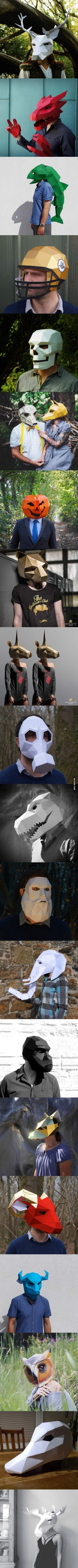 Really Cool Paper Masks                                                                                                                                                                                 More