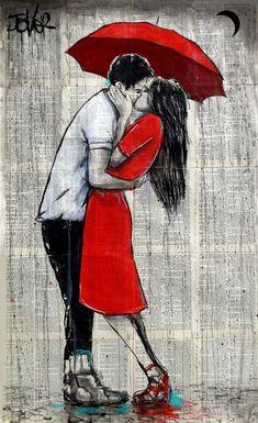 Kissing Drawing, Newspaper Art, Kiss Art, Romance Art, Couple Art, Drawing People, Watercolor Art, Art Drawings, Illustration Art