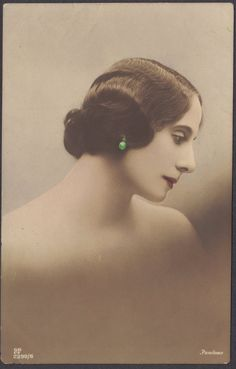 Two lovely portraits of Anna Pavlova by the Georg Gerlach Company of Berlin. Beautifully hand colored, we really cant be sure on the date, but if you compare the fifth image in this listing (from our own collection and not listed for sale yet), which is from around 1911, to the two Gerlach profile images we are listing today, I think youll agree that the Gerlach portraits appear to be from a decade, or so, later.    If there is any confusion over the spelling of her name at the base of…