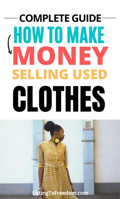 Making Money On Ebay, Make Money Online Now, Make Money Fast, Make Money From Home, Selling Used Clothes, Sell My Clothes, Sell Used Stuff Online, Ebay Selling Tips, Best Clothing Brands