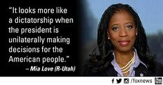 """Rep.-Elect Mia Love (R-Utah) """"President Obama needs to remember he works for the American people"""" #RedNationRising"""