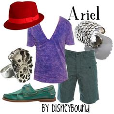 A great group of clothes for a day on the beach or a trip to Disney, come on guys jump on the band wagon of Magic dream wear Disney Dress Up, Disney Clothes, Ariel Disney, Hot Clothes, Mermaid Disney, Beach Clothes, Disney Princesses, Disney Magic, Donald Bebe