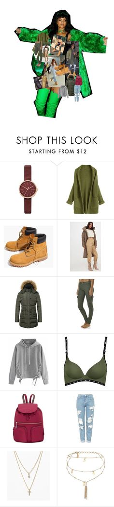 """""""Untitled #17"""" by courtney-claire on Polyvore featuring Versace, Skagen, Timberland, Étoile Isabel Marant, Madewell, The Whole Shebang, Rusty, WithChic, Vera Bradley and Topshop"""
