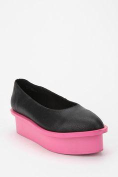 Cheap Monday Contrast Ballerina Flatform // Urban Outfitters