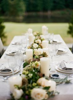 Elegant Green, White, and Mauve centerpiece