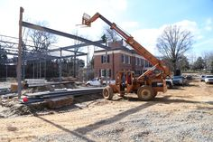 Steel beams going up! The new Gregg Museum of Art & Design is taking shape! March 2016 | gregg.arts.ncsu.edu | Gregg Museum of Art & Design | NC State University | #thinkanddo #raisetheroof
