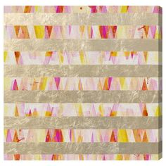 Thinking this would be an easy DIY piece: 1. Paint a background design 2. Tape off lines using painter's tape 3. Gold leaf the parts that weren't taped off   Found it at AllModern - Oliver Gal 'Golden Lines Pattern' Canvas Art http://www.allmodern.com/deals-and-design-ideas/p/Bedding-%2B-D%C3%A9cor-Oliver-Gal-%27Golden-Lines-Pattern%27-Canvas-Art~BOXW1005~E17929.html?refid=SBP.rBAZEVTFen5sNm0qqVyCAmDfoB0RakdfnIGB31EQj8c