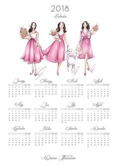 Year at glance calendar for fashionistas!  • printed on pure white paper 250 g quality matte paper • Packaged with care in cello sleeves, between two cardboard sheets • express shipping with Fedex to the USA • Calendar comes WITHOUT frame  The Calendar is available in 3 different