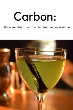 Carbon: Paris neo-bistro with a clandestine cocktail bar