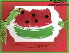 Work of Art Sweet Watermelon by Michelerey - Cards and Paper Crafts at Splitcoaststampers