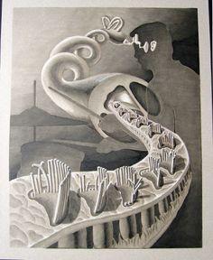 Inner ear rendering....Science Illustration by Melanie Maralit, via Behance
