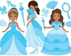70% OFF SALE African American Princess Clipart  Digital
