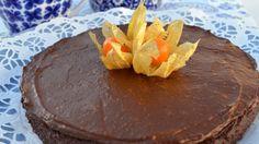 Kladdig chokladkaka med chokladkräm
