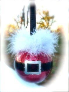 Santa ornament, Xmas tree decor, Christmas ornament, Santa Clause inspired ornament, Kris Kringle inspired christmas ball, Holiday tree ball by CreativeCraftRooms on Etsy https://www.etsy.com/listing/467138045/santa-ornament-xmas-tree-decor-christmas