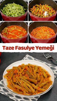 Taze Fasulye Yemeği (Fotoğraflı Pratik Tarif) - Nefis Yemek Tarifleri Ethnic Recipes, Food, Essen, Meals, Yemek, Eten