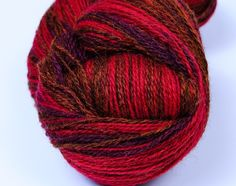 #Kauni Wool Yarn SelfStriping Red Purple Brown Gradient by Kauni, $19.15 #etsy #knitting