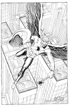 Hawkman commission by John Byrne. 2013. John included the...