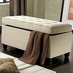 Shop Wayfair for Storage Benches to match every style and budget   ottoman bench for end of bed linen storage. Bedroom Ottoman Bench. Home Design Ideas