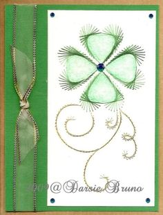 Shamrock Clover St. Patricks Day Paper Embroidery Pattern by Darse, $1.50