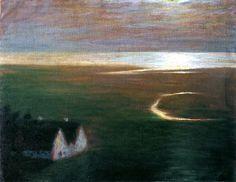 """Moonlight"" by Emile Nolde, 1903"