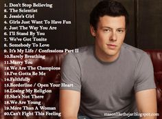 Mason...Like The Jar: The Best Of Cory Monteith Playlist