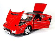 Ferrari 348ts 1:18 #scale, red, #maisto diecast #model car , View more on the LINK: http://www.zeppy.io/product/gb/2/142003677543/
