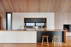 Kitchen From The Seaview House By Jackson Clements Burrows. Via Design Milk.