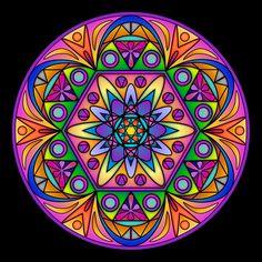 Mandala - by RuthArt Mandala Art, Mandala Design, Mandalas Drawing, Hamsa Design, Coloring Books, Coloring Pages, Desenho Tattoo, Circle Art, Mandala Coloring