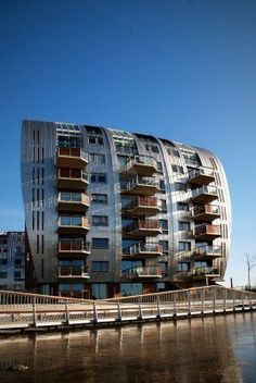 Water front apartments in the Netherlands.