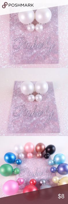 Cute Double Sided Pearl Earrings White Super cute double sided pearl earrings. White Pearl . More colors available in closet. Ask for a discounted bundle.   🚫🚫TRADES/HOLDS🚫🚫  💰PRICE FIRM💰  🐣Please help me keep my closet friendly & drama free. If you're unhappy with my listing just purchase elsewhere🐣  💟Happy Poshing💟  If you love Wila jewelry & Iconic Legend jewelry you'll love these! Pinkerly Jewelry Earrings
