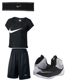 """Basketball game"" by rachelfischer12 ❤ liked on Polyvore featuring NIKE"