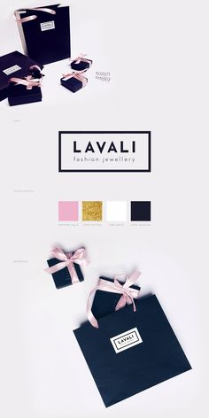 Lavali Fashion Jewellery - branding, packaging & web on Behance