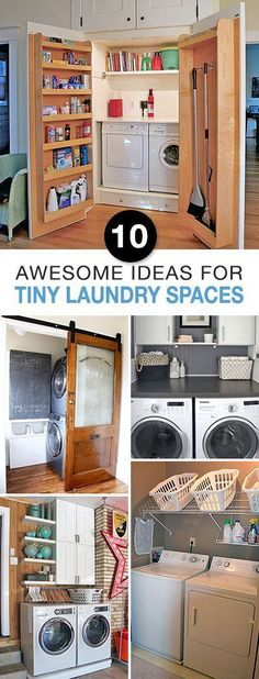 10 Awesome Ideas for Tiny Laundry Spaces | Home Decoration