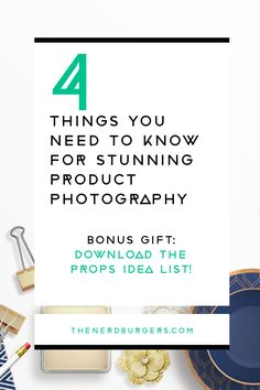 4 things you need to know for stunning product photography. Click through to discover our simple tips designed for beginner's so that you can take beautiful product photos for your handmade and creative business!