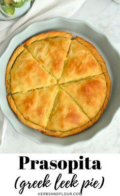 Healthy Breakfast Recipes, Vegetarian Recipes, Snack Recipes, Cooking Recipes, Healthy Recipes, Cheesy Leeks, Greek Pita, Leek Pie, Greek Cheese