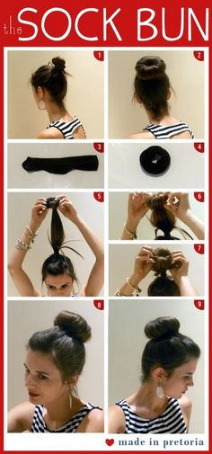 tbh, i've been doing this for years without the sock. i just use a regular hair elastic and a scrunchie.