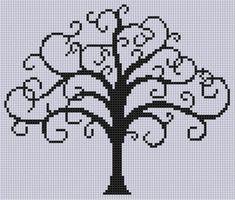 cross stitch christmas tree life size - Sök på Google