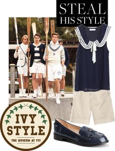 """Nautical preppy style"" by maryedent on Polyvore"
