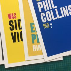 All the small prints done!, onto the large one now. More details about the exhibition later this week. #funwithnames #prints @fun_with_names