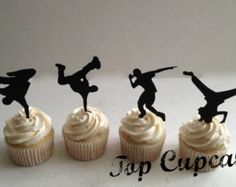 hip hop cupcake toppers - Google Search More