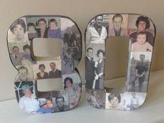 80th Birthday idea celebrating both my Mam & Dad's 80th birthday this summer.                                                                                                                                                                                 Más