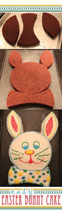DIY Cute Easter Bunny Cake
