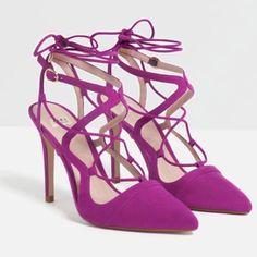 Zara Strappy Fuchsia Heel