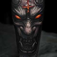 Demon tattoo by @stepannegur in Moscow Russia #stepannegur #moscow #russia #demontattoo #monstertattoo #tattoo #tattoos #tattoosnob
