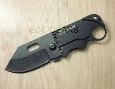 EDC Mini Folding Knife Frame Lock Clip Porket Card Knife Stainless Steel SR 238  #EDC