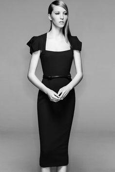 Roland Mouret Galaxy Square-Neck Sheath Dress