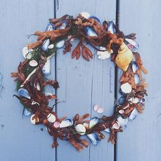seaweed and mussel wreath