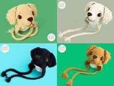 PDF Crochet Pattern for making an adorable Golden Retriever or Labrador Retriever Puppy Dog Hat by IraRott